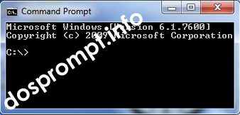Screenshot: Standard Command Prompt